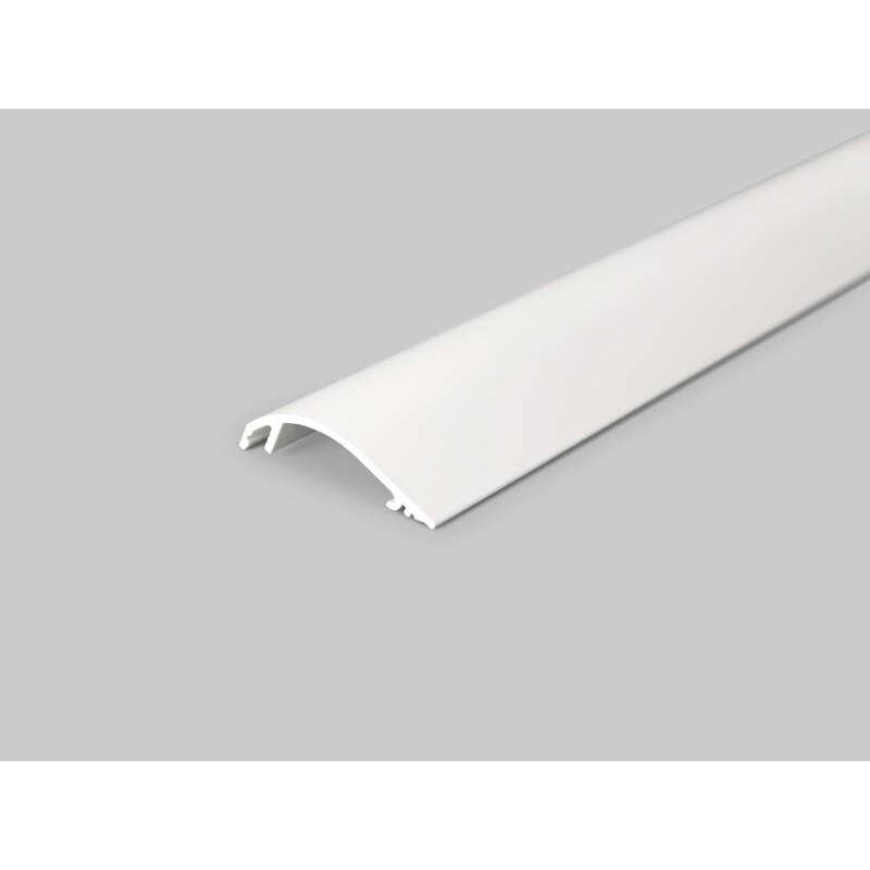 -4 Meter LED Profil Voute 10mm -Frontblende weiss lackiert- Serie M-