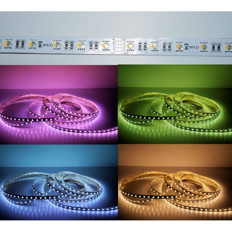 5 Meter LED Strip 24V 5050 RGBW Warmweiss (4 in 1 Chip) 19W und 60 Leds-M IP63