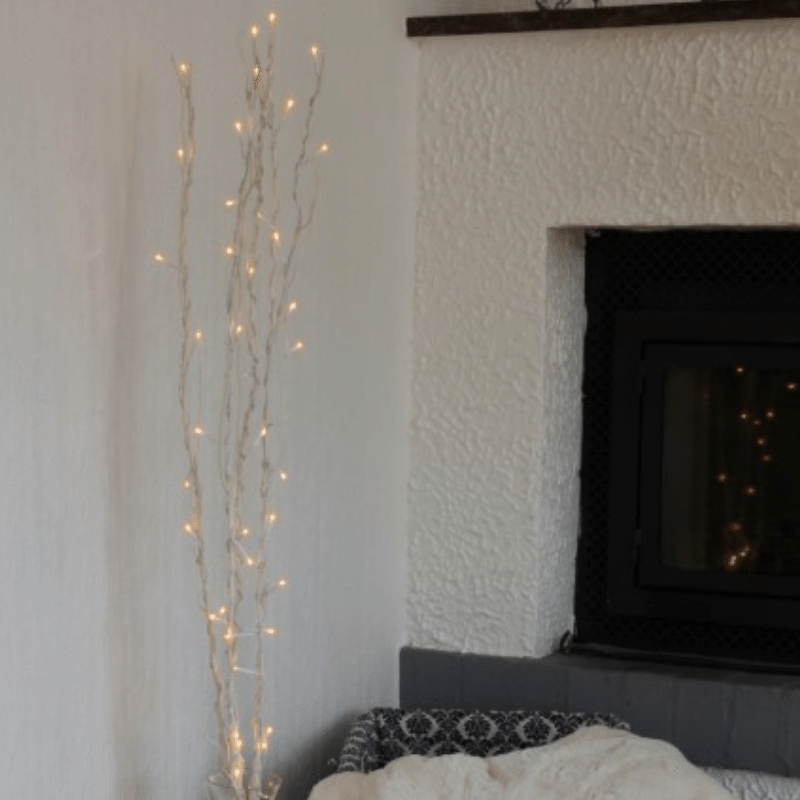 LED Leuchtzweig Willow - weisse Weide - 60 warmweisse LED - H: 115cm - inkl- Trafo