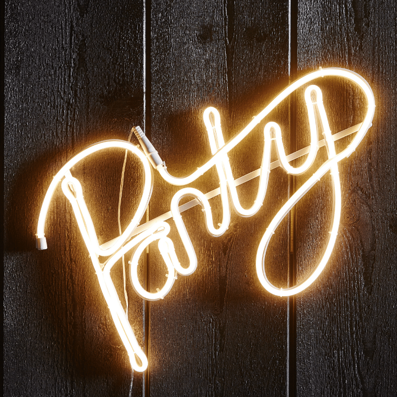 LED Silhouette Party - Flatneon - 305 LED - H: 31cm - outdoor - warmweiss