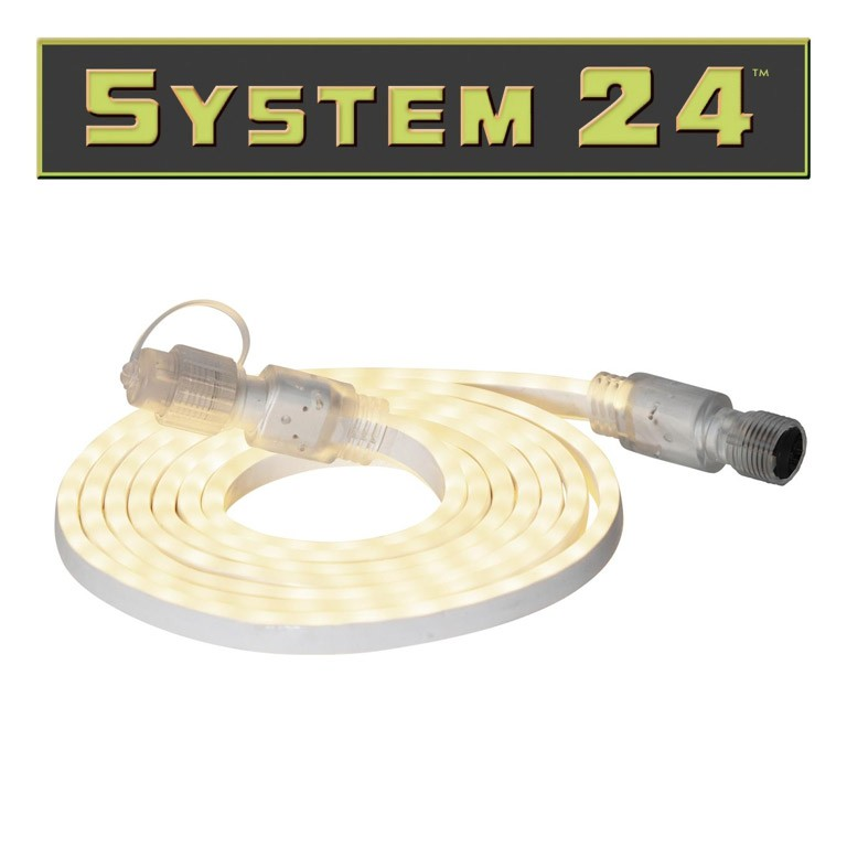 System 24 - LED Lichtschlauch - 180 LEDs- warmweiss - koppelbar - exkl- Trafo - 3m - outdoor